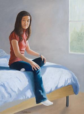 """Karen"", acrylic on canvas, 24x18, 2009"