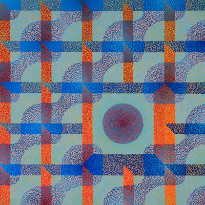 Conceptual Framework, acrylic on panel, 24x24, 2010