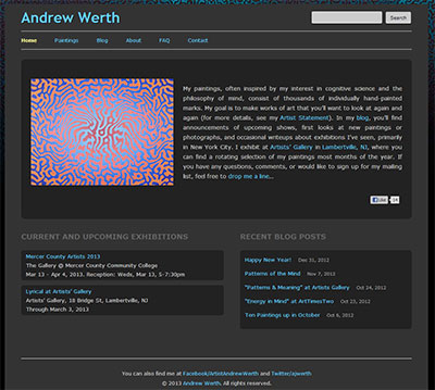 Screen Shot of AndrewWerth.com