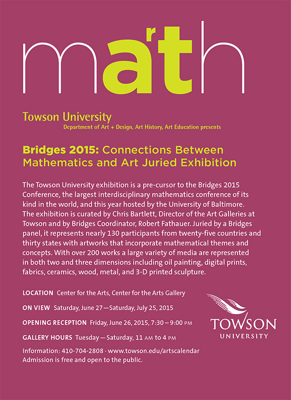 Bridges 2015 Precursor at Towson University